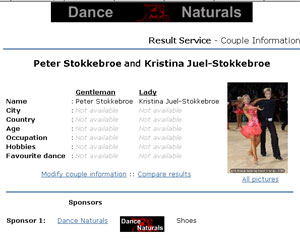 Click here to see the full profile page of PETER STOKKEBROE and KRISTINA JUEL-STOKKEBROE including SPONSOR LOGO'S